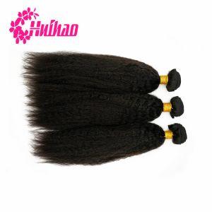 Couleur naturelle du corps d'onde profonde droites vierge naturelle des cheveux indien brésilien Bundle Tissage de cheveux avec la fermeture des cheveux humains