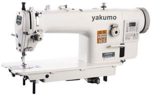 Unidade de agulha única de alta velocidade Lockstitch máquina de costura industrial com aparador/Gancho grande