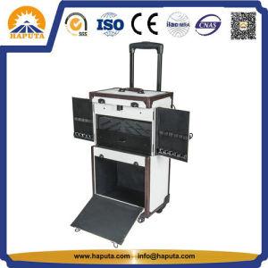 Compartiments verrouillables chariot spécial cas cosmétiques avec miroir blanc (HB-4606)