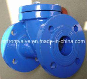 Fundición de hierro dúctil/válvula de retención de bola con brida
