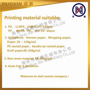 Nx-4800 4 색깔 Flexo 플라스틱 인쇄 기계
