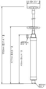 Leichte vielseitig begabte kolbenartige manuelle Wasser-Pumpe