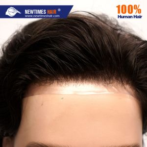 Stock homens naturais do cabelo humano indiano Toupee