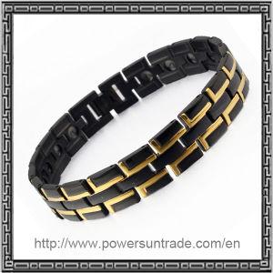 Blut Pressure Magnetic Bracelet in Schwarzem-Gold Color