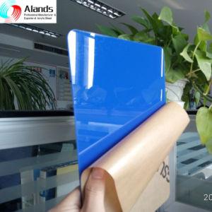 Papel de folha de acrílico PMMA azul mascarado a folha de acrílico