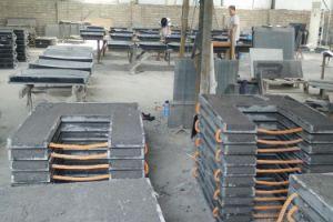 Jiashi Shanxi manto lareira em granito preto