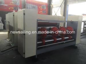 Alimentador de la cadena de Slotter impresoras flexo de cartón corrugado que hace la máquina