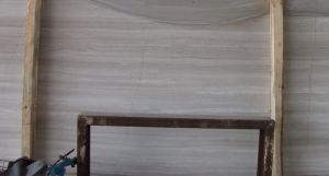 De grijze Houten Marmeren Steen Staircare, Rechte Trap van de Korrel