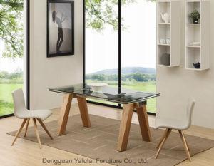 Venta caliente moderna extensión Cristal mesa de comedor Muebles de madera