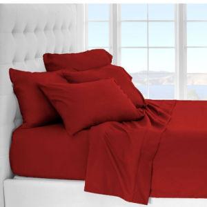 100% microfibra suave de lujo 4 trozos de hoja de cama Ropa de cama