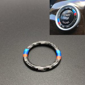 2012-2015 E90/E92/E93 Moteur de voiture en fibre de carbone Start Stop Bouton poussoir Anneau de capot pour BMW