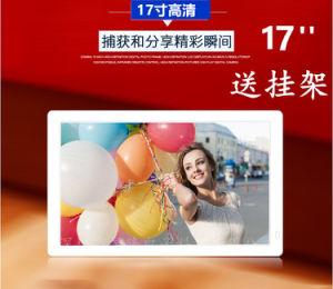 LED de gros en vrac Slim Electronic Digital Photo Frame17 pouces HDMI vidéo en boucle