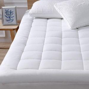 100% algodón hipoalergénico protector de colchón impermeable Tapa