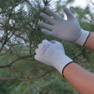 A fábrica! Nível 3/5 Hppe Camisa de fibra de vidro Sandy/ anilha ondulada de espuma de látex de nitrilo PU Cut-Proof resistentes ao corte revestido de borracha anti cortar a mão do trabalho de protecção luvas de segurança