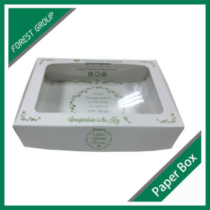 Impresos personalizados creativa C1s caja de papel con ventana
