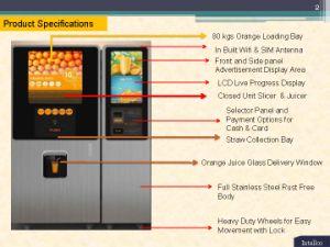 Automatischer frischer Orangensaft-Verkaufäutomat