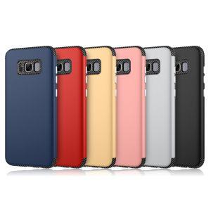TPU+PC 2 Samsung S8のためのIn1カーボンファイバーの電話箱と