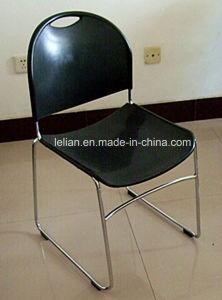 Presidenza di plastica nera di cerimonia nuziale della pila con il carrello per mobilia commerciale (LL-0004)
