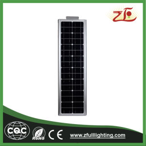 LED de luz da rua solar integrada luz de rua com painel solar