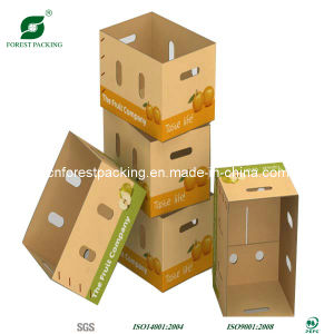 Caixa de maçã de papel com janela de PVC na China