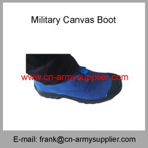 ごまか警察軍キャンバスのブートキャンバスの靴