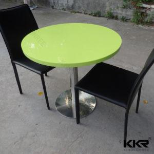 600X600 Superficie sólida acrílica redonda mesa de comedor