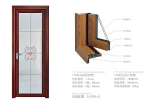 二重緩和されたガラスが付いているプッシュプル内部アルミニウム開き窓のドア