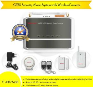 GPRS Security Alarm System With Wireless Cameras (8 maximal) (YL-007M8B)