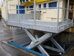 4 a 6 tonelada Marco el muelle de carga de la mesa elevadora de tijera con CE aprobó