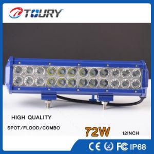 72W自動作業ランプのクリー族の倍の列LEDのオフロードライトバー