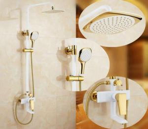 贅沢な金によってめっきされる浴室のシャワーセット(WH-2101S)