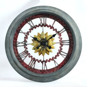 Comercio al por mayor Relojes de pared de metal para comedor Design