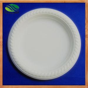 6pouce de la fécule de maïs de la plaque plaque biodégradable