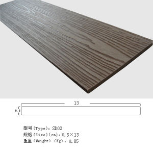 Assoalho composto plástico de madeira do Decking, revestimento ao ar livre