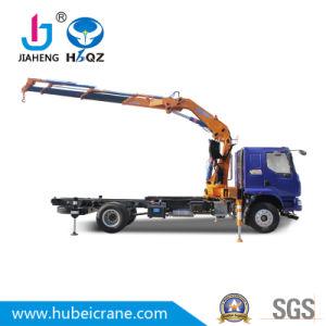 HBQZ 공장 가격 SQ160ZB4 덤프 트럭을%s 유압 드는 8 톤 너클 붐에 의하여 거치되는 트럭 기중기