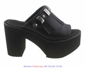 Mesdames EVA unique plate-forme de filtre en coin robe noire Chaussures pour femmes