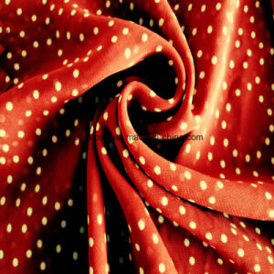 Qualitäts-Polyester-Silk Chiffon- Gewebe mit Form PUNKT Druck für langes Kleid