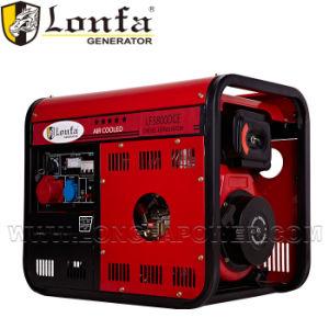 Portátil 3.5kVA gerador diesel trifásico com arranque eléctrico