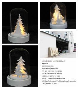 Der Großverkauf, der mit Europa-Festival-Dekoration-Weihnachten LED populär ist, beleuchtet Glasabdeckung mit Beleuchtung