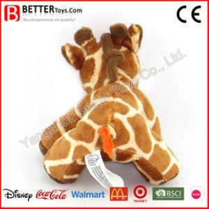 Giocattolo molle della giraffa della peluche dell'animale farcito dell'abbraccio per i bambini/capretti