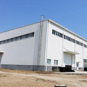 La elaboración de la construcción de la estructura de acero prefabricada taller