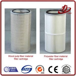 Filtro de Cartucho de polvo de poliéster industrial para el colector de polvo Baghouse