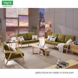 Alta calidad de madera maciza Muebles de salón sofá 1+2+3