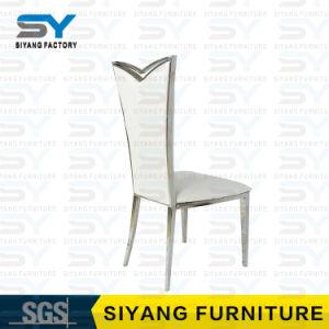 Os móveis de aço cromado cadeira banquetes febre PU Couro Cadeira de jantar