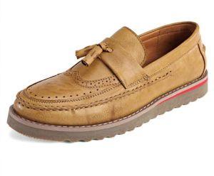 100% auténticos hombres zapatos casuales de cuero de vaca mocasines zapatos de cuero hechos a mano