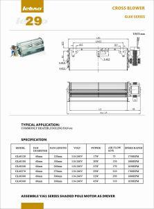 Comercio al por mayor de flujo transversal Blader AC Motor del ventilador de refrigeración de la máquina