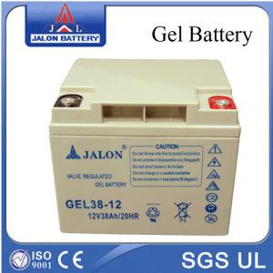 Caja de seguridad y calidad de gel de plomo ácido de batería 12V38Ah