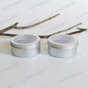 vaso crema cosmetico di alluminio 150g con il coperchio della finestra