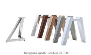 Venta caliente extensión moderna mesa de comedor Muebles de metal cerámica