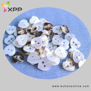 2 H de coração branco Botão Shell
